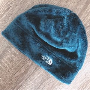 The North Face Teal Blue Fleece Beanie